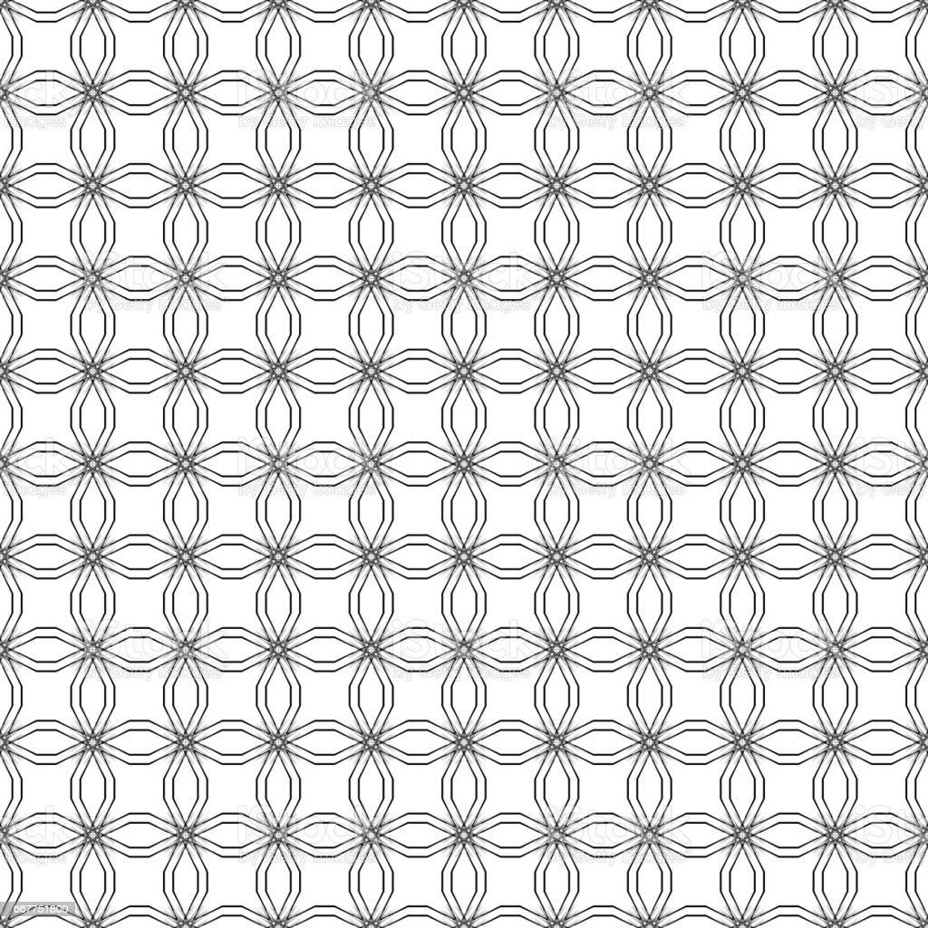 Abstract geometric seamless pattern. Black and white style pattern vector art illustration