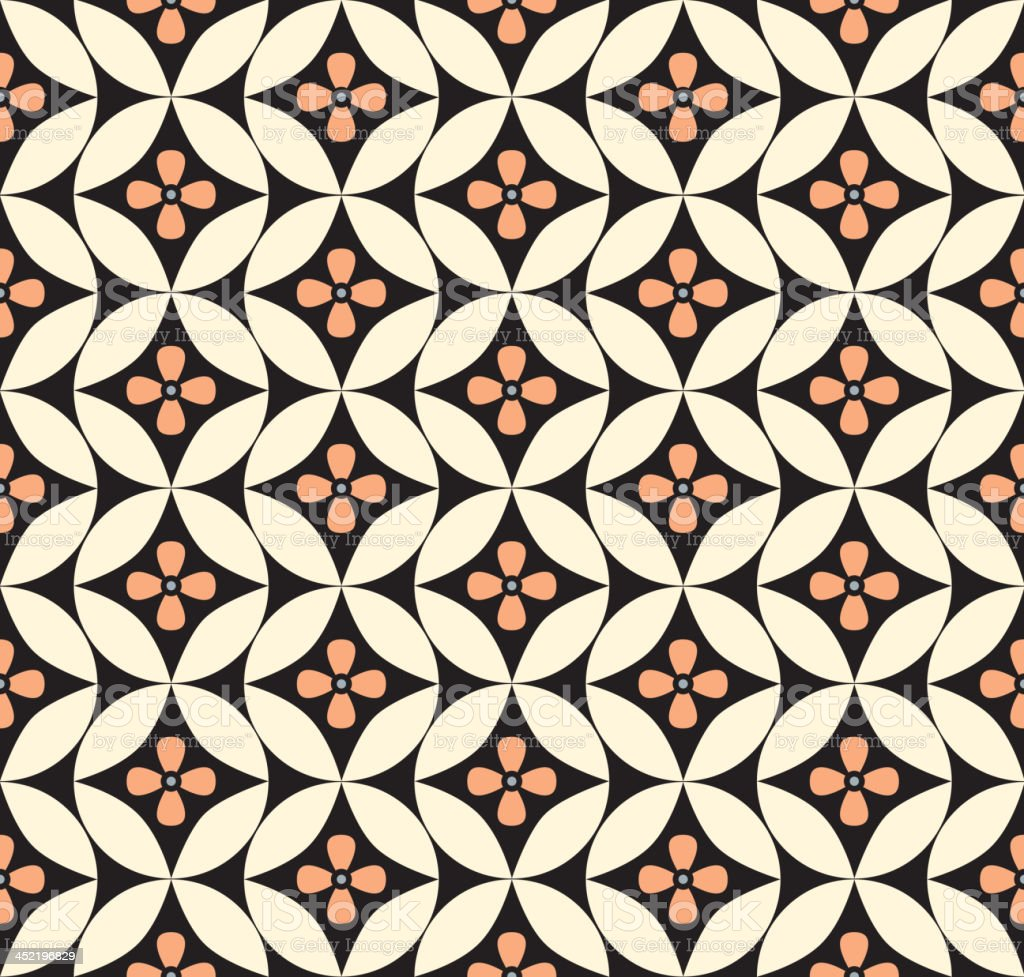 Abstract geometric seamless tile pattern royalty-free stock vector art