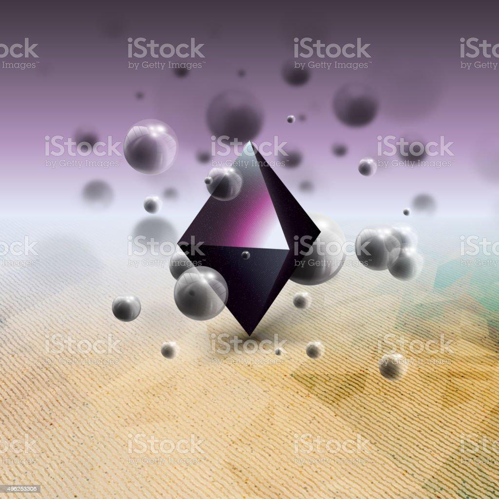 Abstract geometric shape, scientific graphic design. Futuristic vector illustration vector art illustration