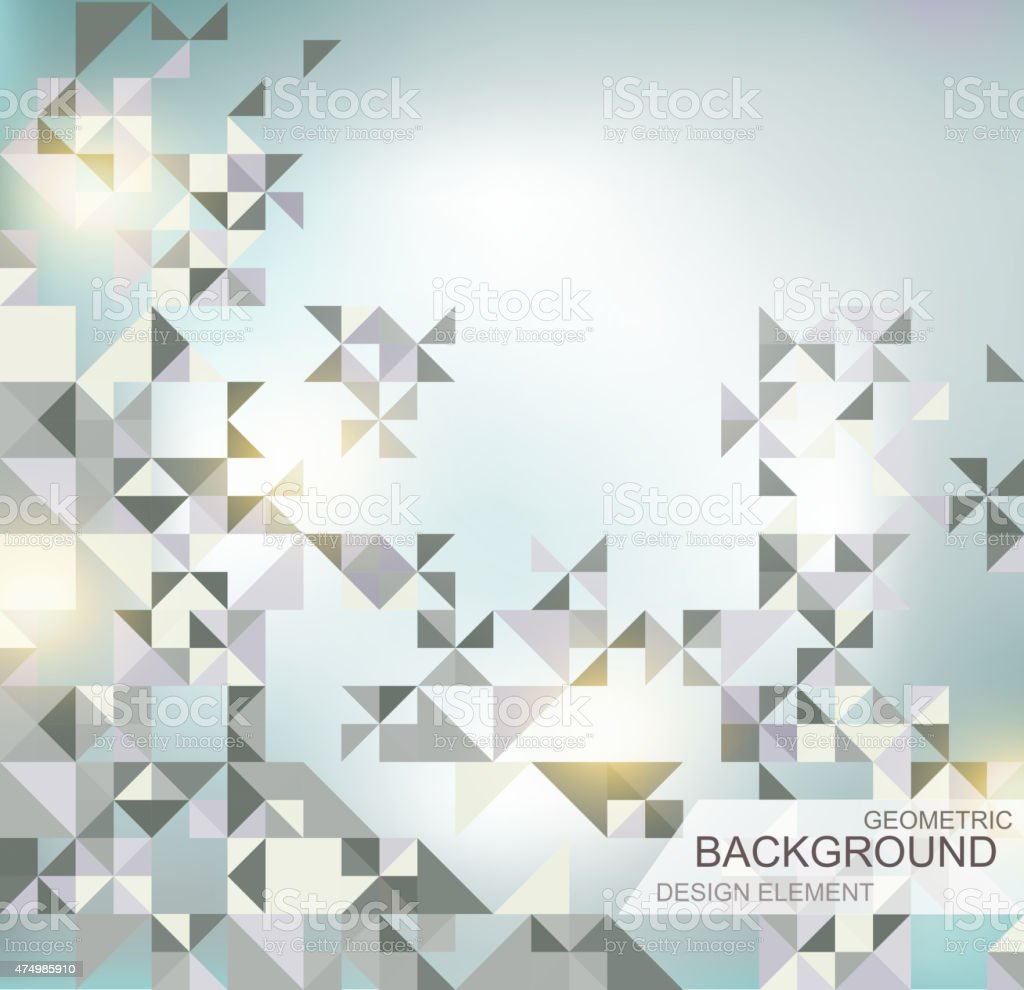abstract geometric shapes vector art illustration