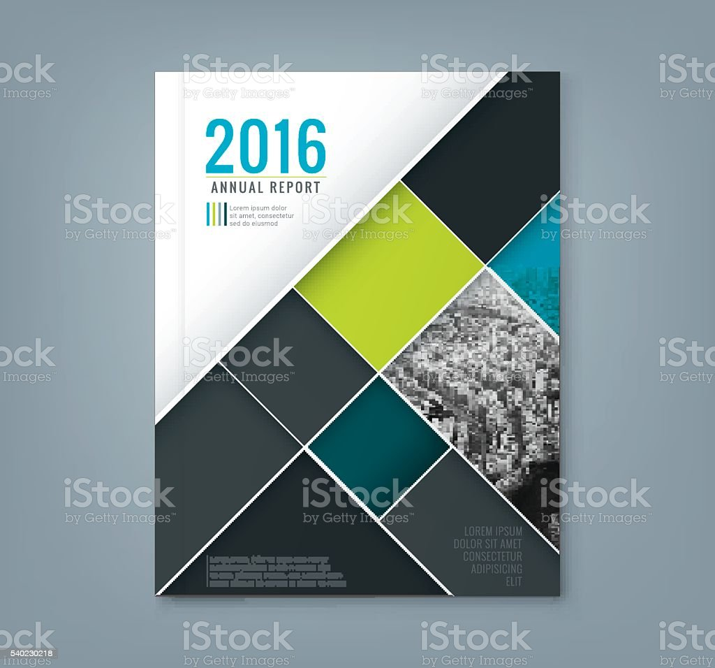 Abstract geometric square shape design template for business annual report vector art illustration