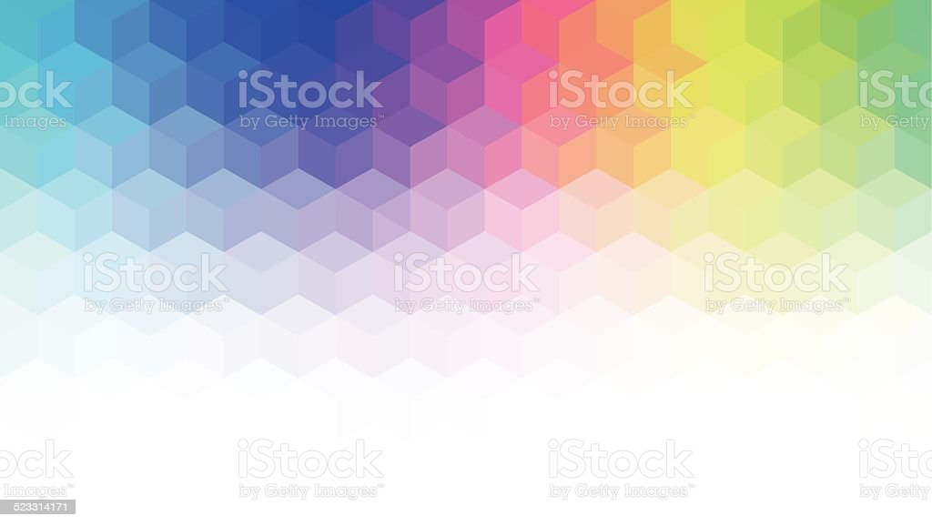 Abstract geometric style background vector art illustration