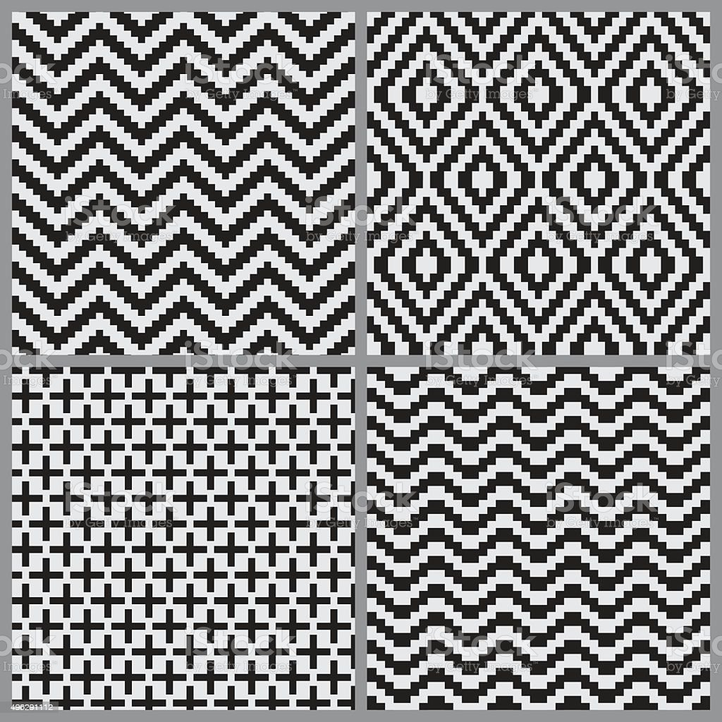 Abstract geometric tiling seamless pattern background vector art illustration
