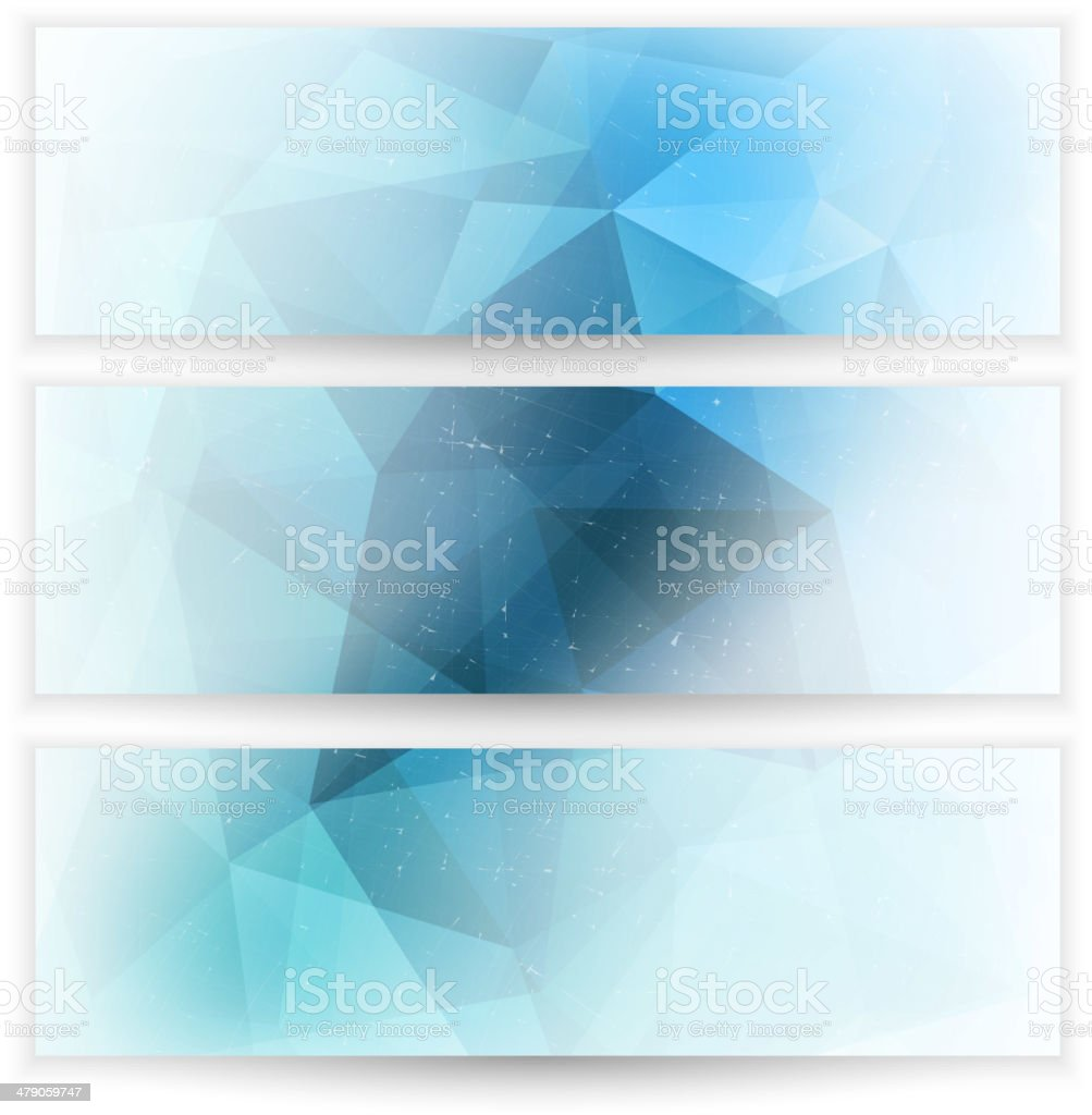 Abstract geometric triangular banners set royalty-free stock vector art