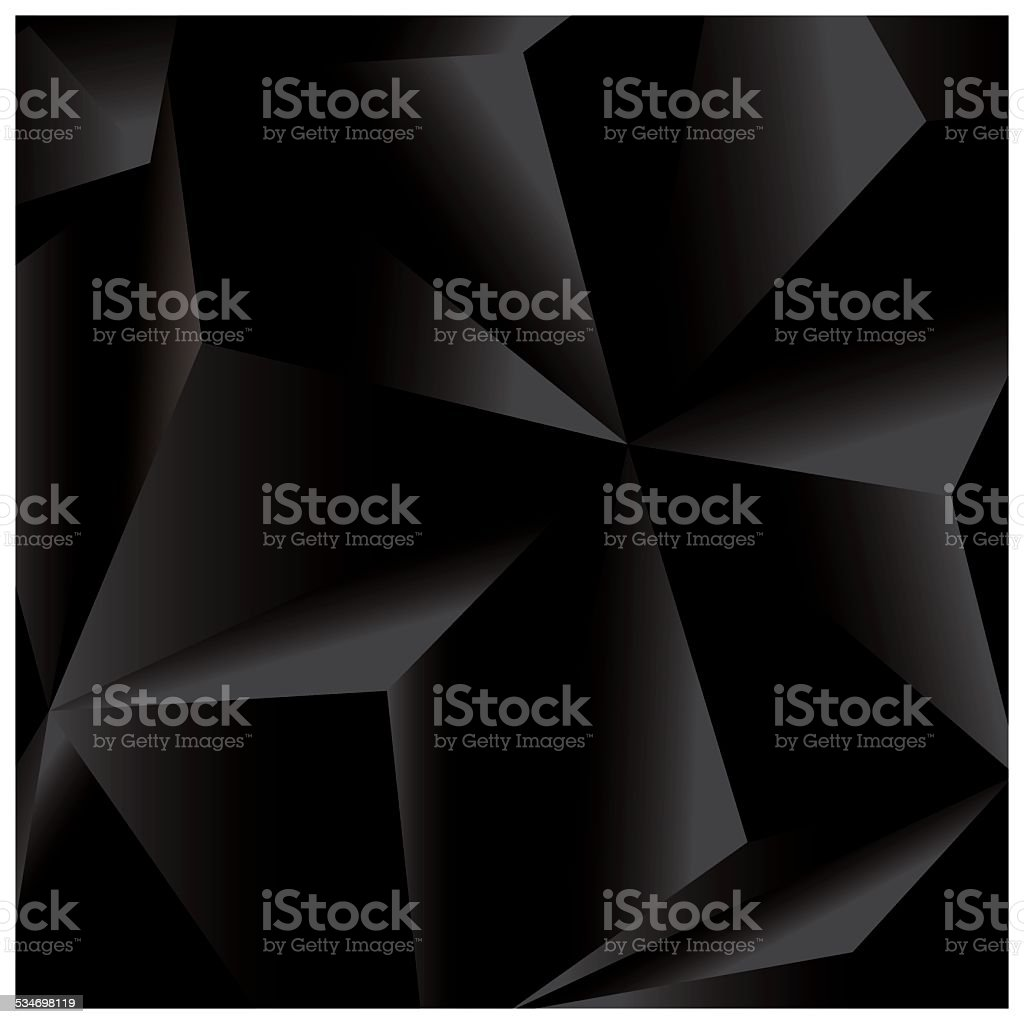 Abstract geometric vector background, 3d, black, template design elements, vector vector art illustration
