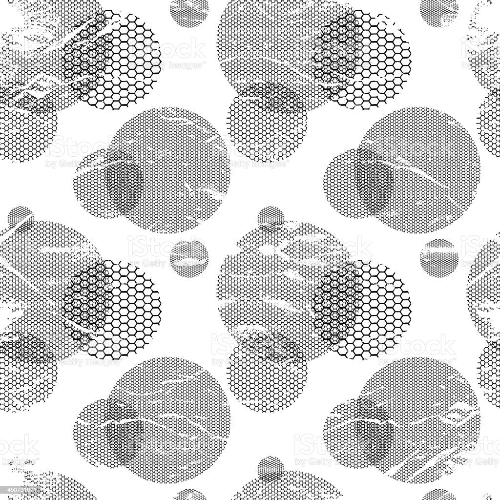 Abstract geometric vector background - lacy circles. royalty-free stock vector art