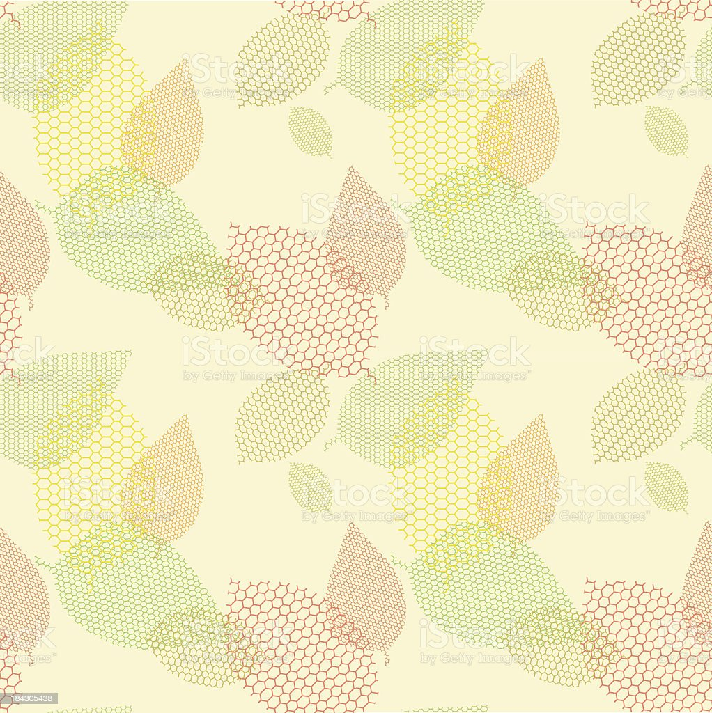 Abstract geometric vector background - leaves. royalty-free stock vector art