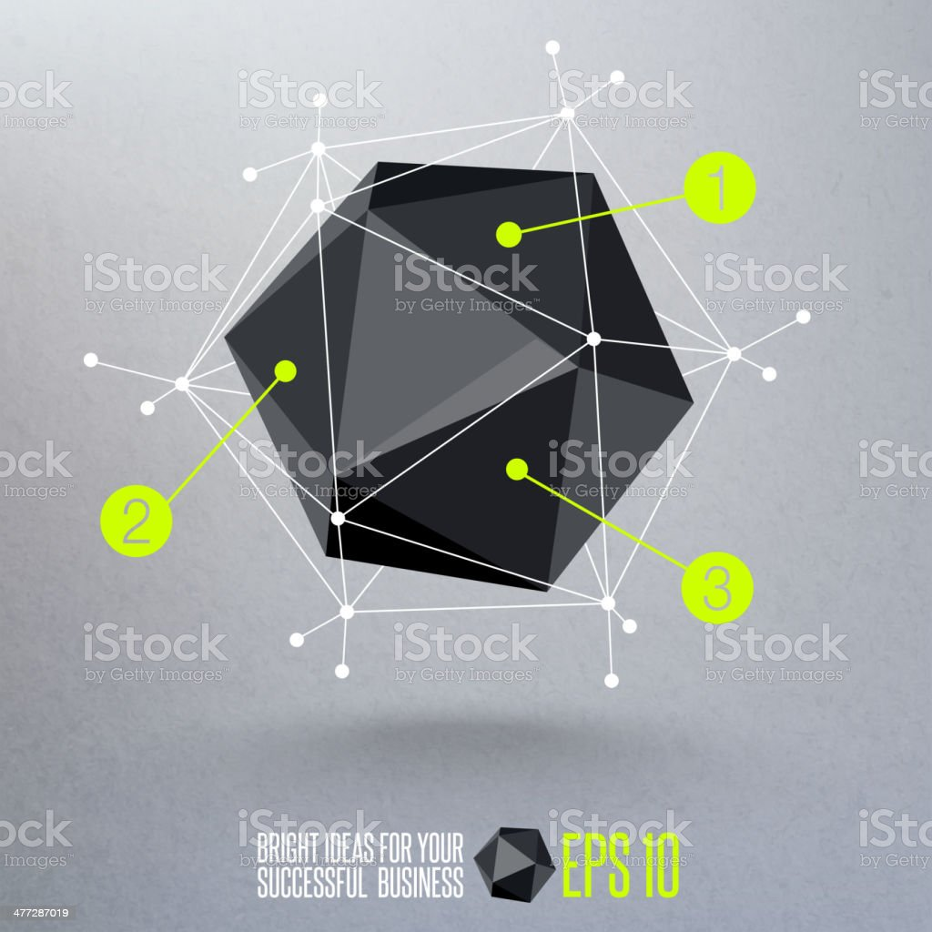 Abstract geometric vector illustration royalty-free stock vector art