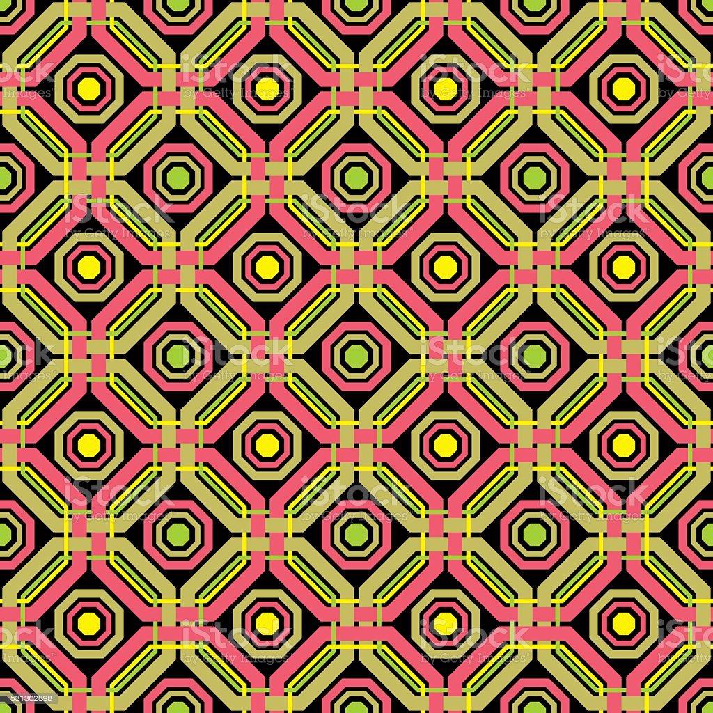 Abstract geometric weaving pattern vector art illustration