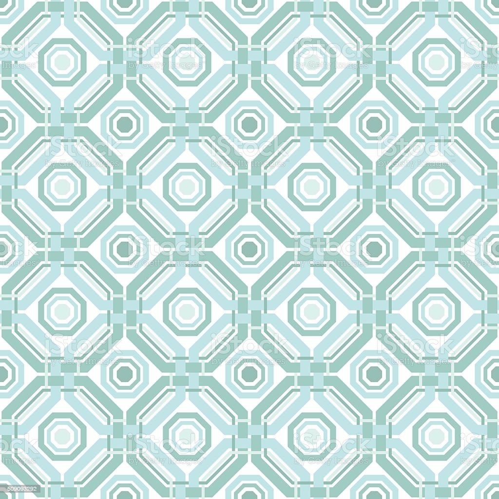 Abstract geometric weaving vector art illustration