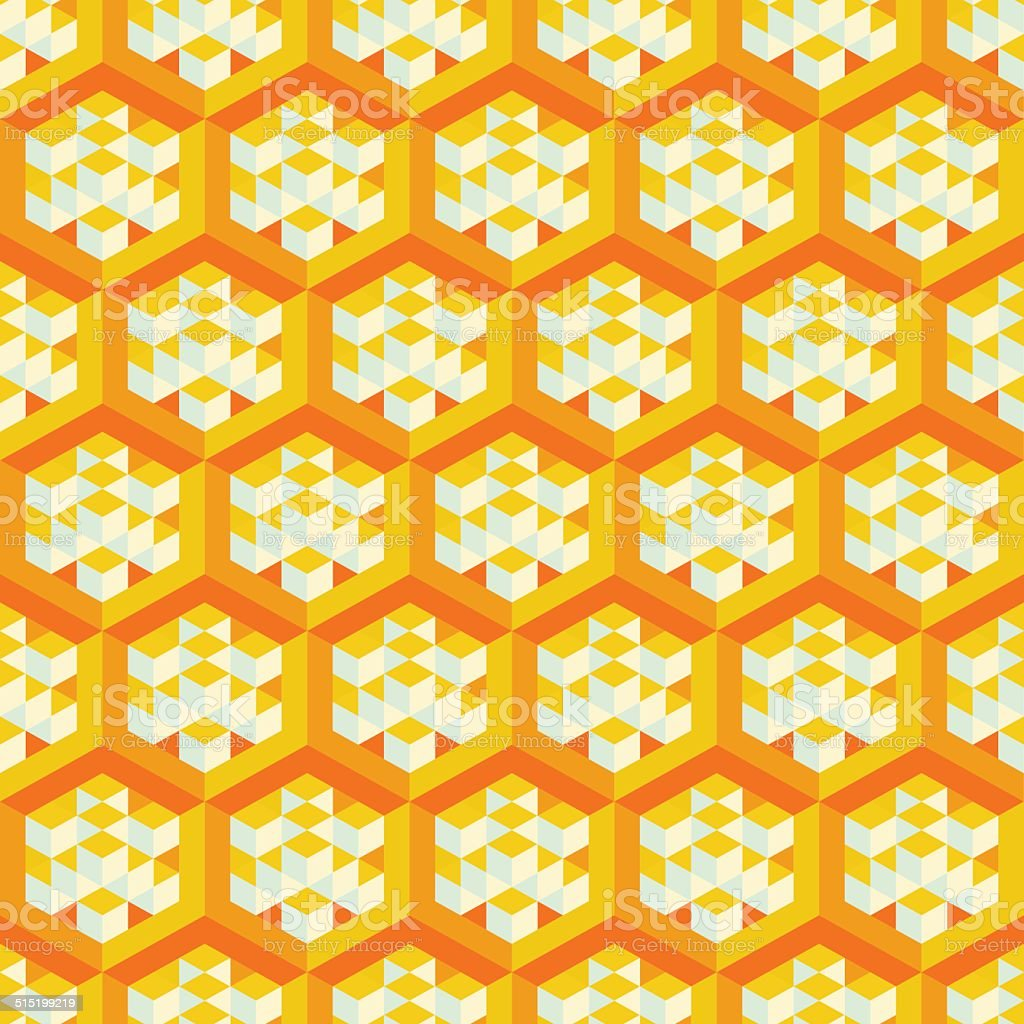 Abstract geometrical 3d background. Seamless pattern.  Mosaic. vector art illustration
