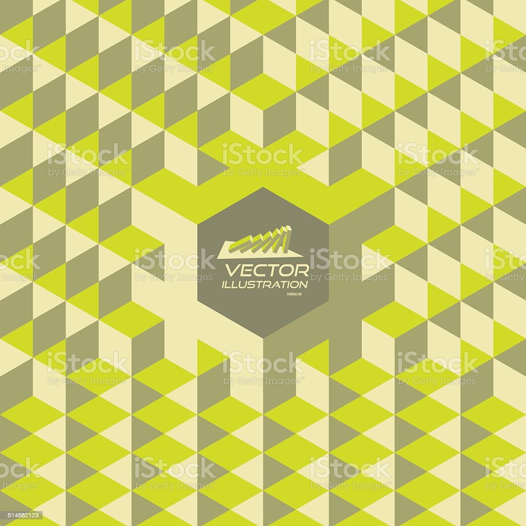 Abstract geometrical 3d background. With place for text. vector art illustration