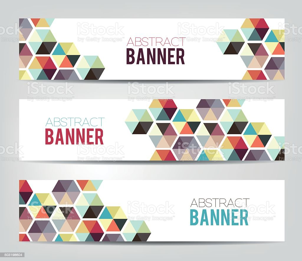 Abstract Geometrical Banners vector art illustration