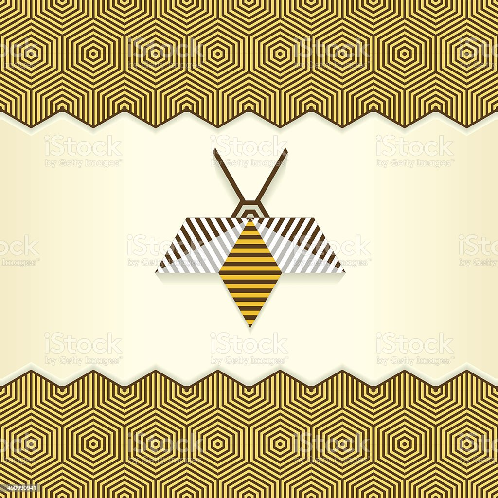 Abstract Geometrical Bee royalty-free stock vector art