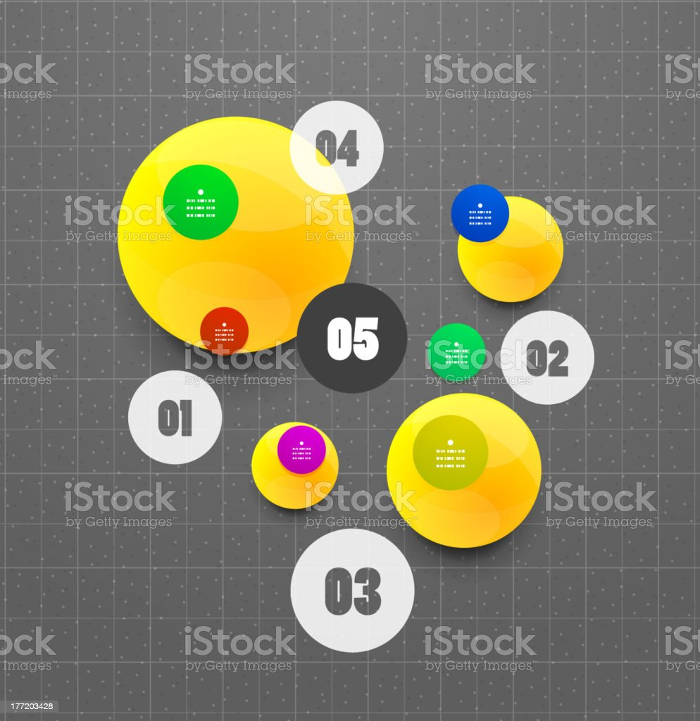 Abstract geometrical circles background royalty-free stock vector art