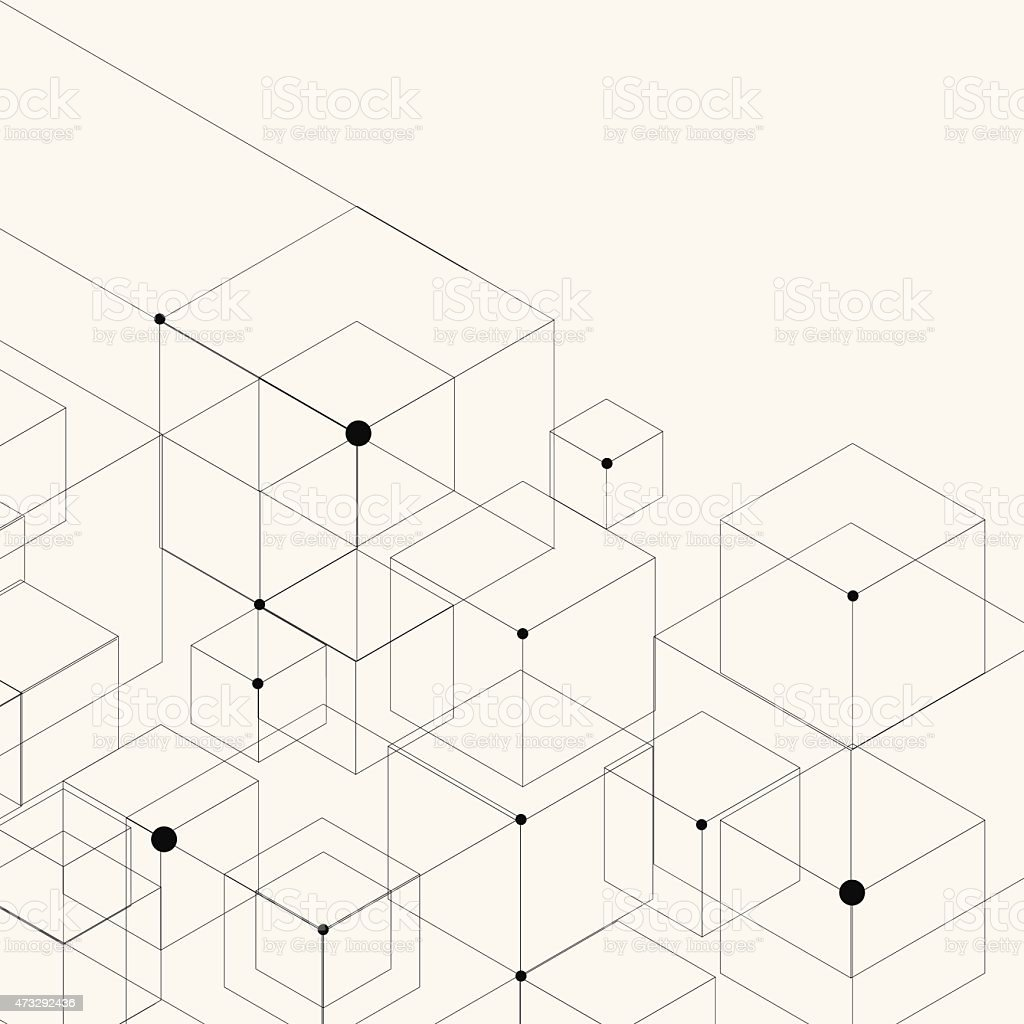 abstract geometry pattern background vector art illustration