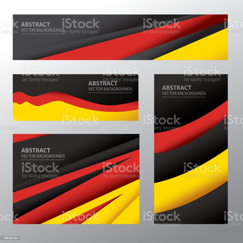Abstract Germany Flag, German Colors (Vector Art) vector art illustration
