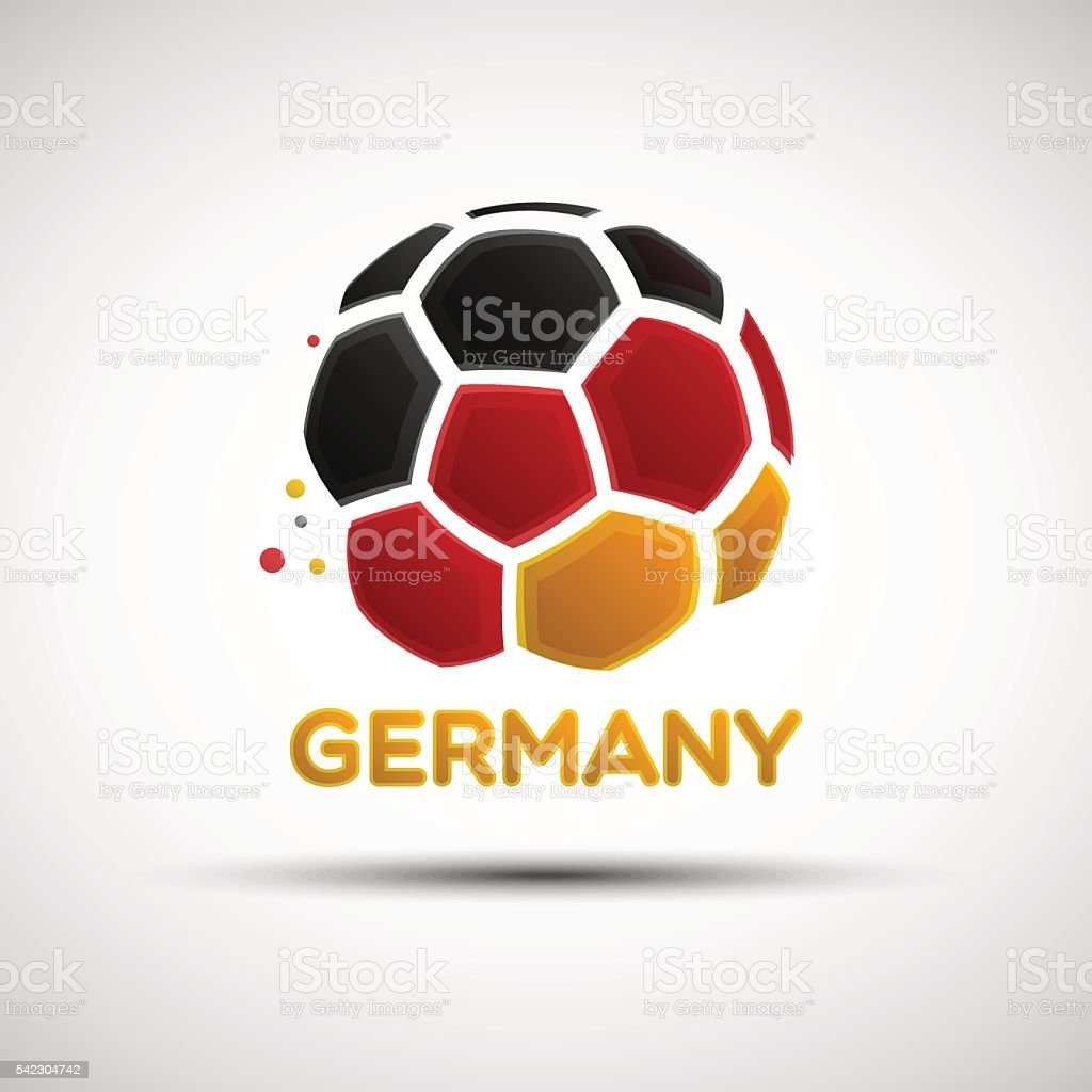 Abstract Germany soccer ball vector art illustration