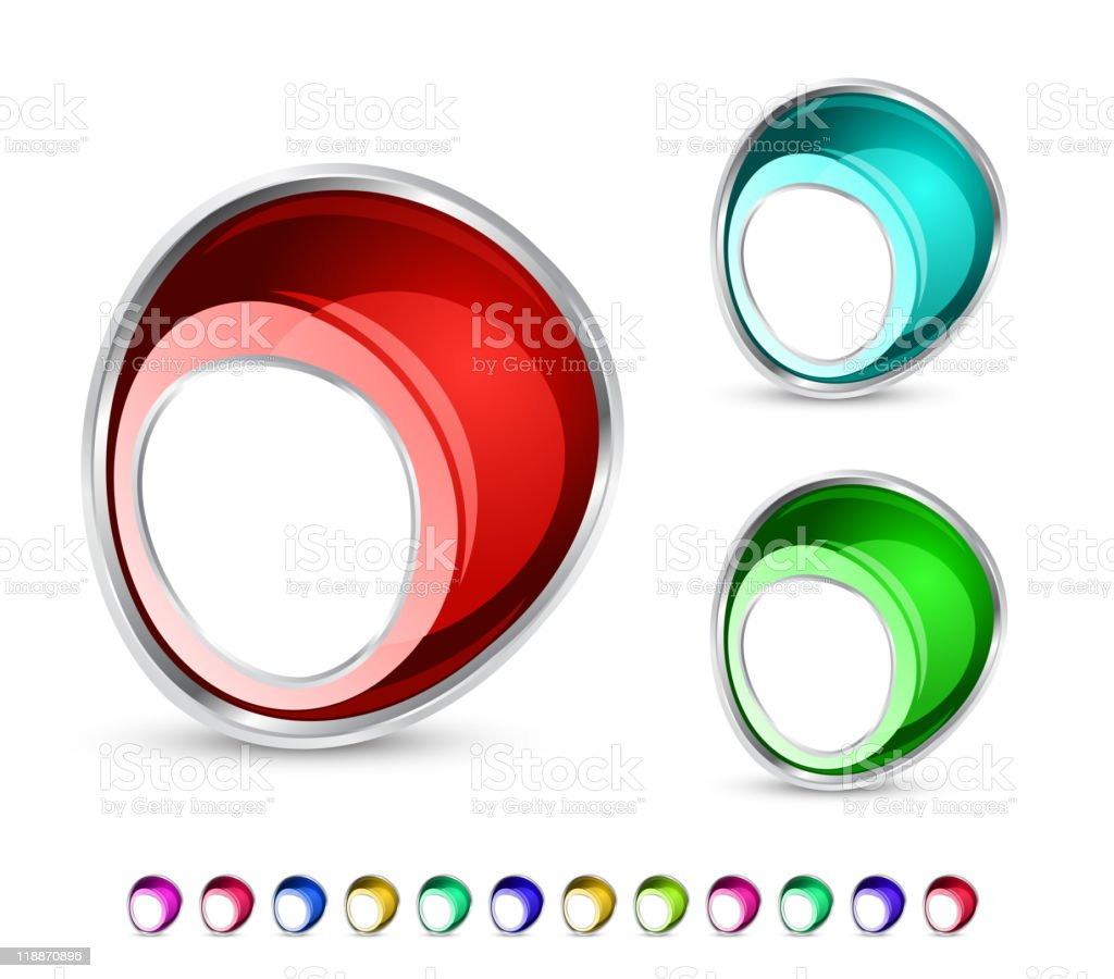 Abstract glass icons royalty-free stock vector art