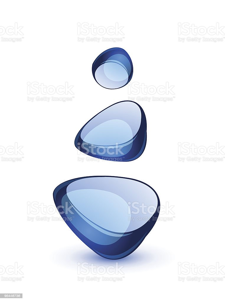 Abstract glass shapes royalty-free stock vector art