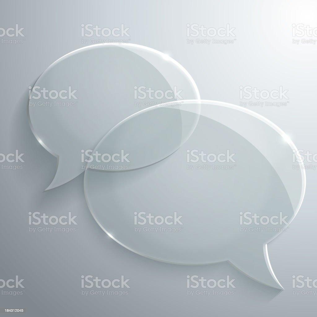 Abstract Glass Speech Bubble vector art illustration
