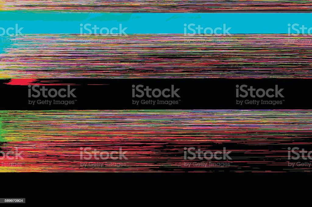 Abstract glitch background vector art illustration