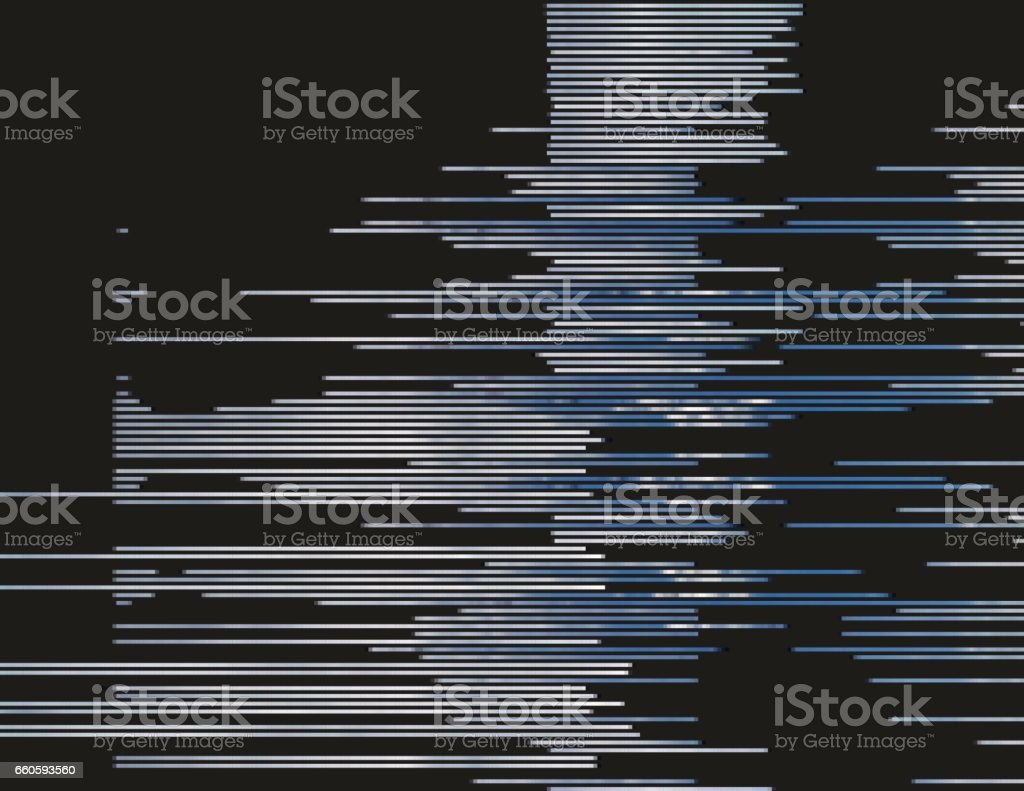 Abstract glitched background vector art illustration
