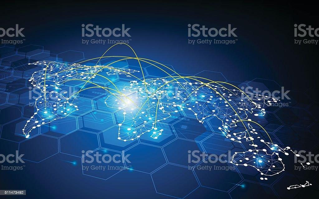 abstract global traffic design communication transport networking connection concept vector art illustration