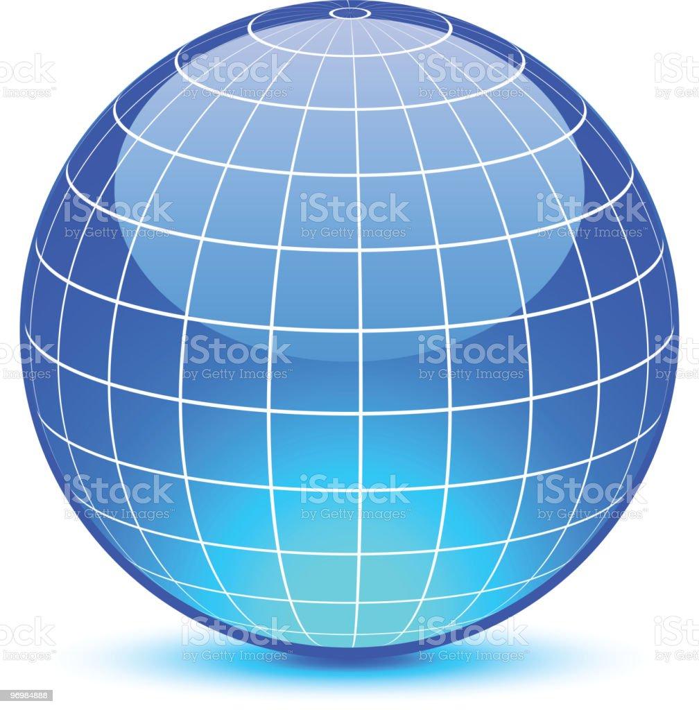Abstract globe. vector art illustration