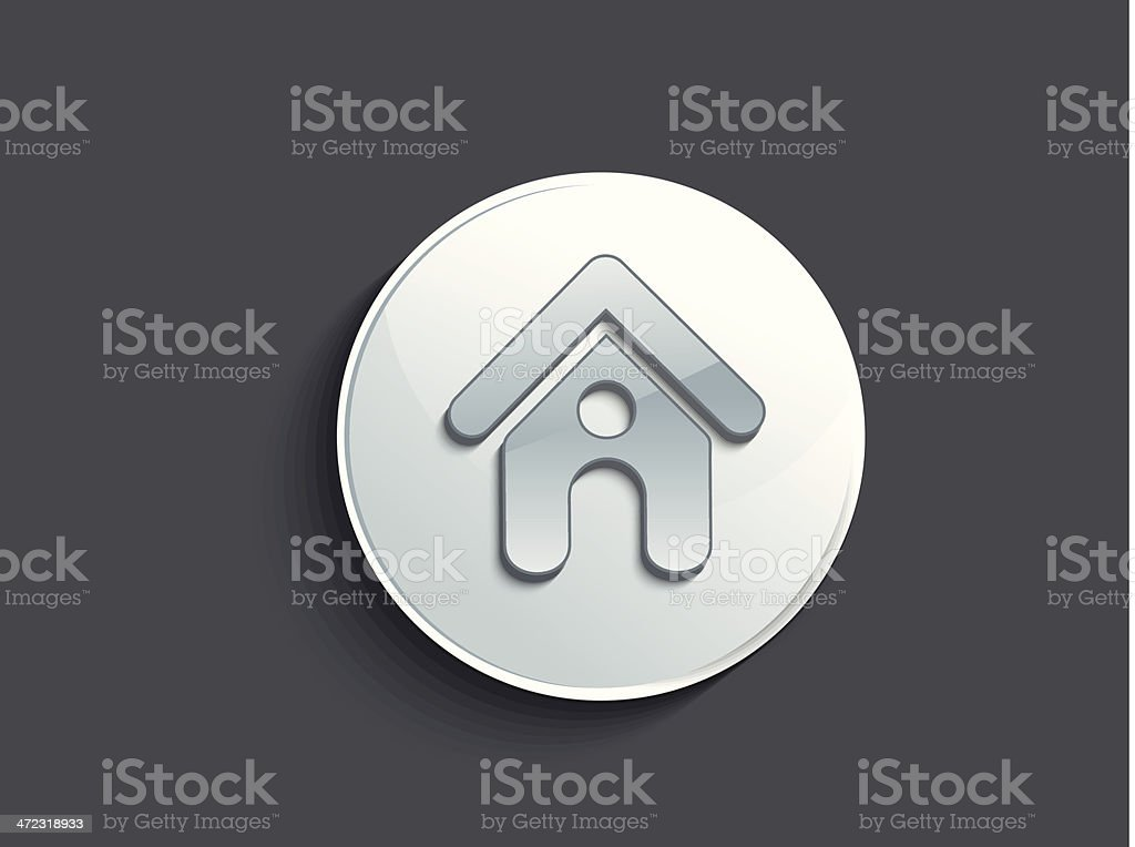 abstract glossy home icon royalty-free stock vector art