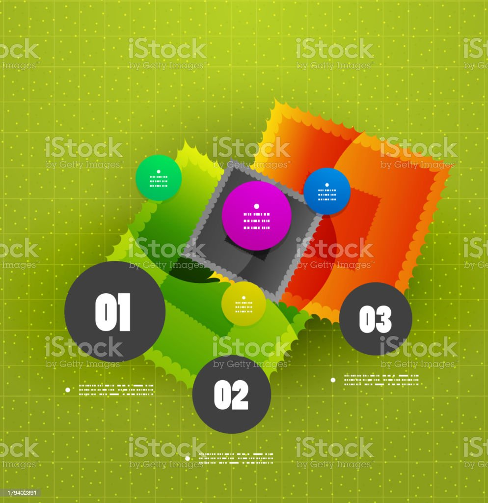 Abstract glossy infographic design royalty-free stock vector art