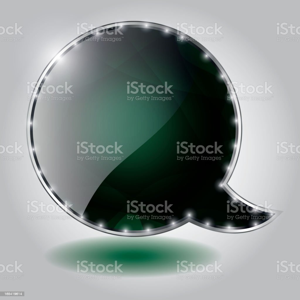 Abstract glossy speech bubble vector background royalty-free stock vector art