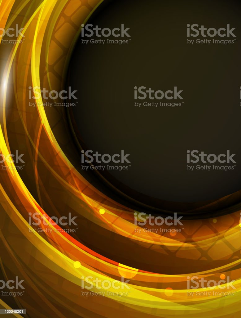 Abstract glossy wave royalty-free stock vector art