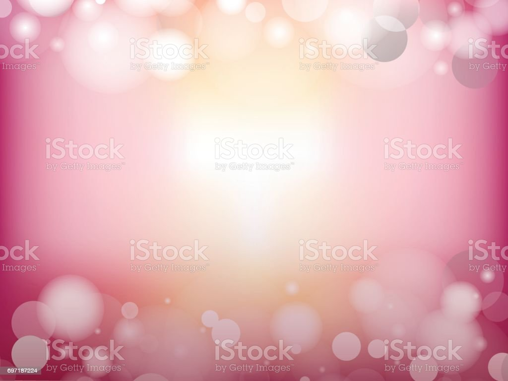 Abstract Glow Soft bokeh for Valentines Day Background Design. vector art illustration