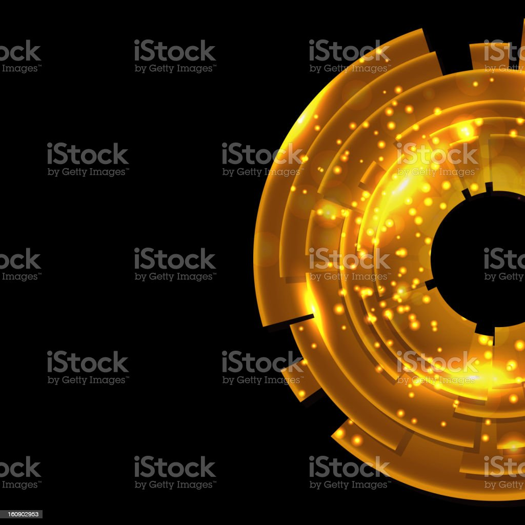 Abstract gold background with black copy space. royalty-free stock vector art