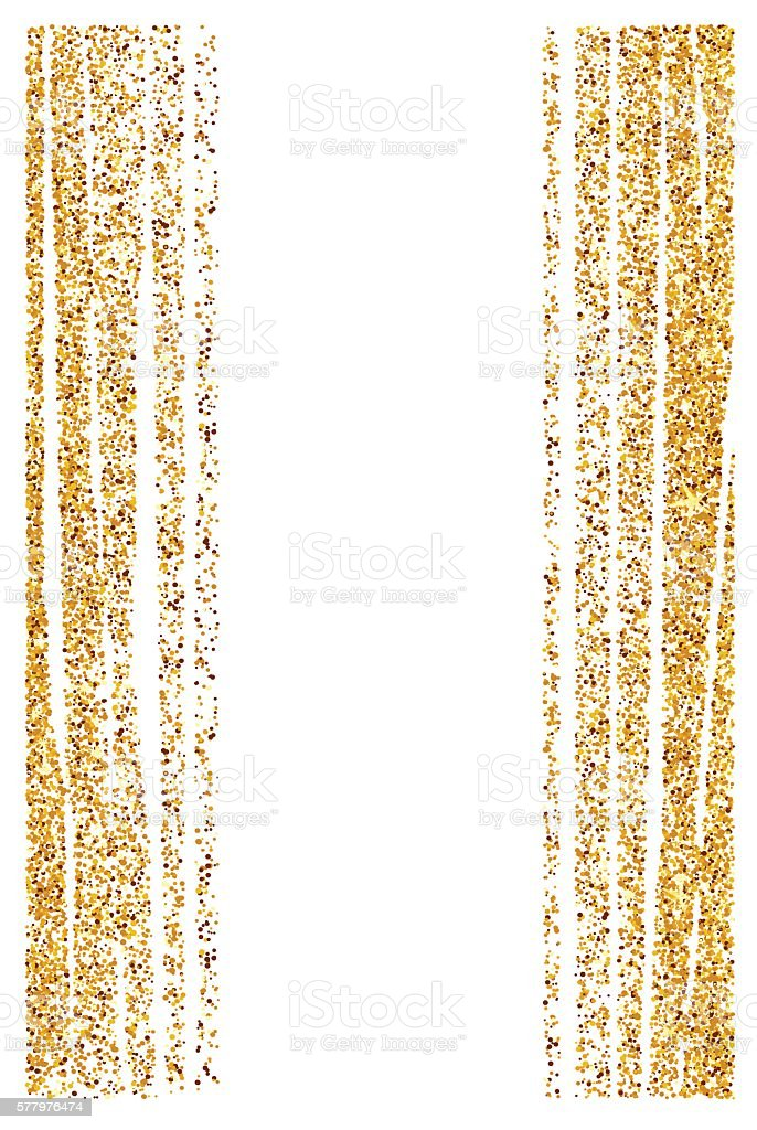 Abstract gold glitter background. Shiny sparkles for card vector art illustration