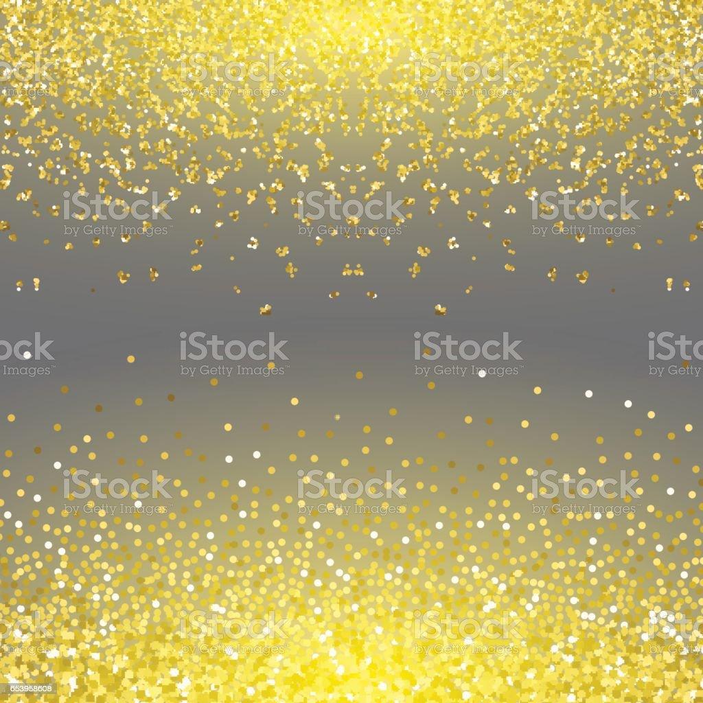 Abstract gold glitter splatter background for the card, invitation, brochure, banner, web design vector art illustration