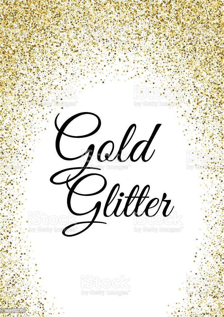 Abstract gold glitter template vector art illustration