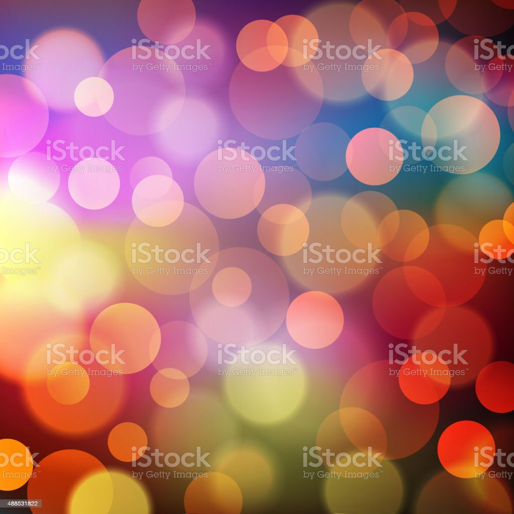 Abstract Golden Holiday Background bokeh effect vector art illustration