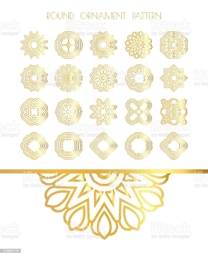 Abstract golden ornament vector art illustration
