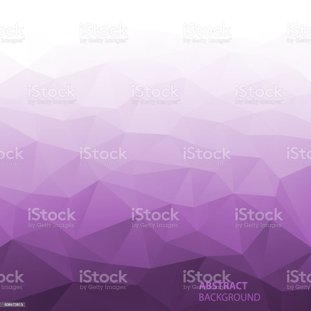 Abstract Gradient Violet Geometric Background. vector art illustration