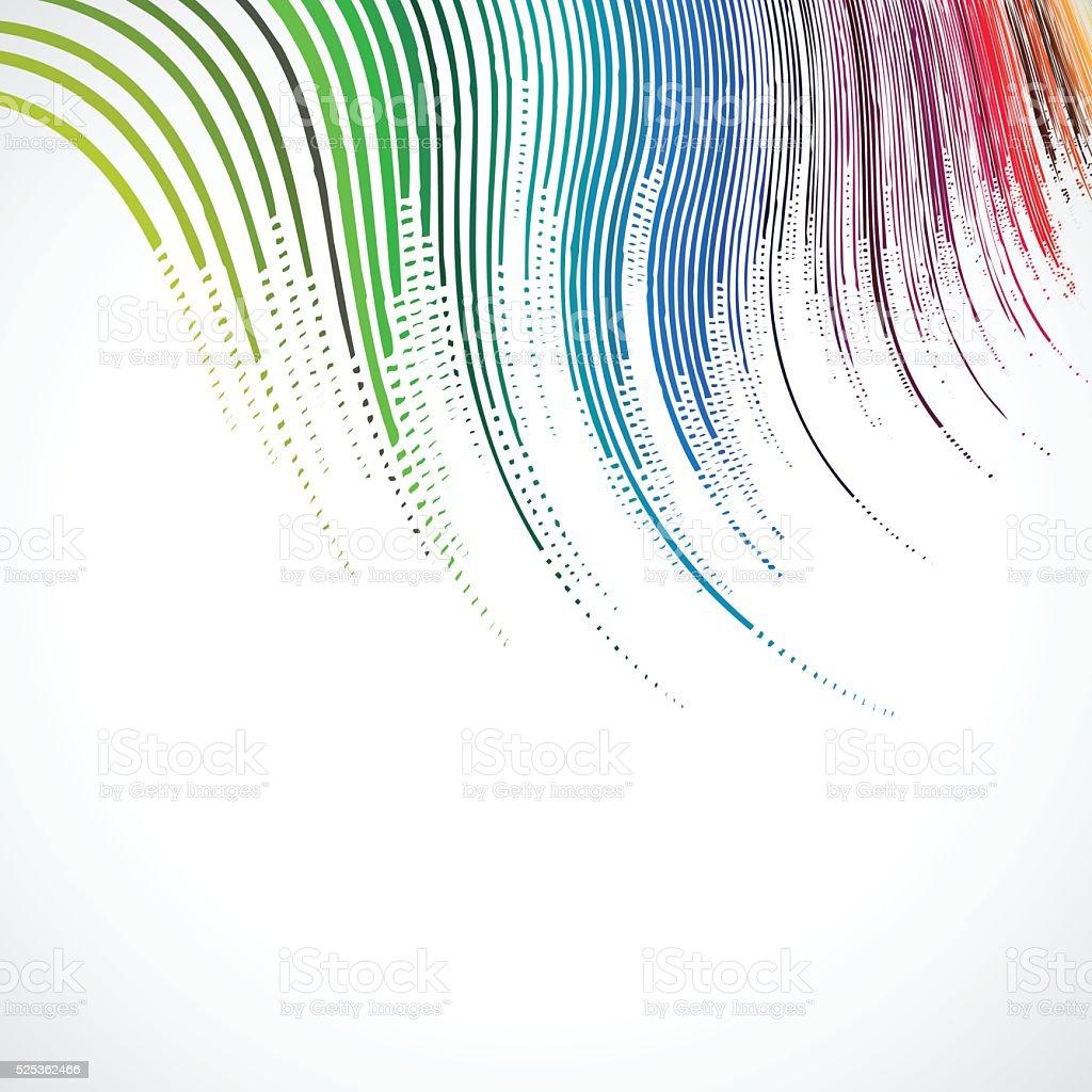 abstract gradient wave stripe pattern background vector art illustration