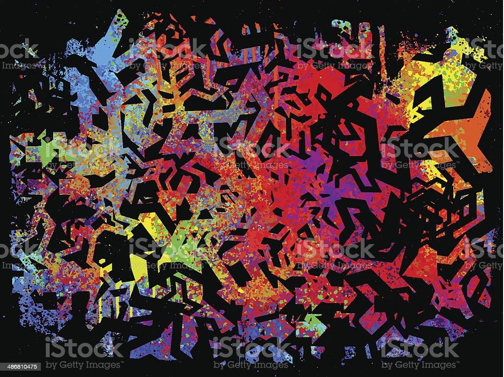 abstract graffiti grunge background vector art illustration