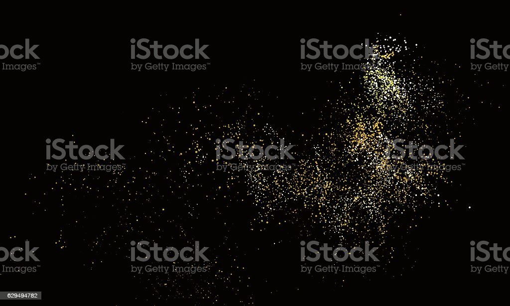 Abstract Graphic Design of Particle Composition. vector art illustration