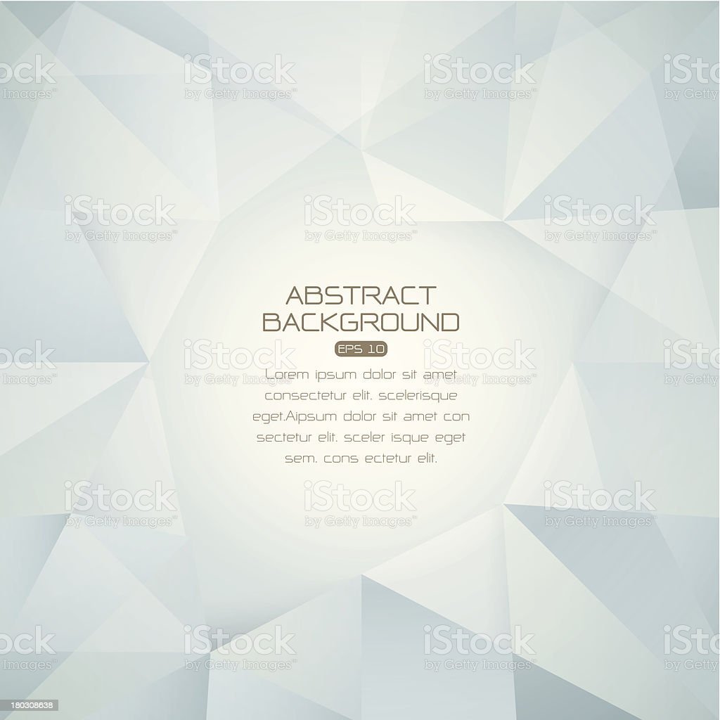 Abstract gray and white background of polygons royalty-free stock vector art