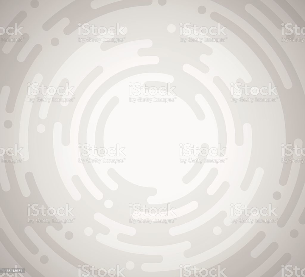 Abstract Gray and White Concentric Circles Background vector art illustration