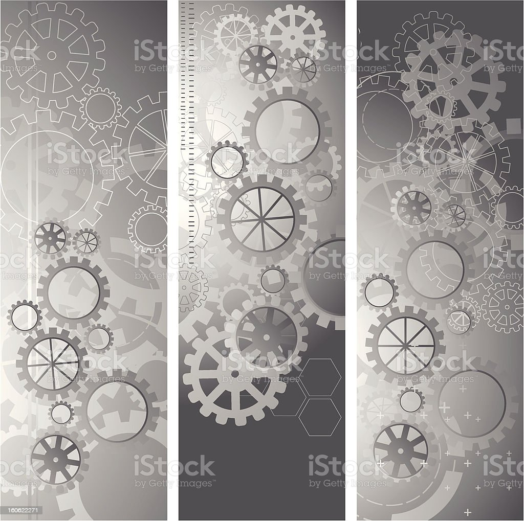 Abstract gray banners vector art illustration