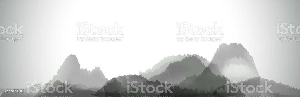 abstract gray chinese painting pattern background vector art illustration