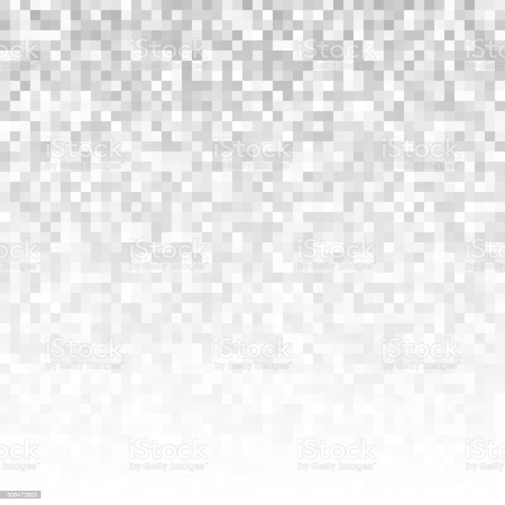 Abstract gray pixel background vector art illustration