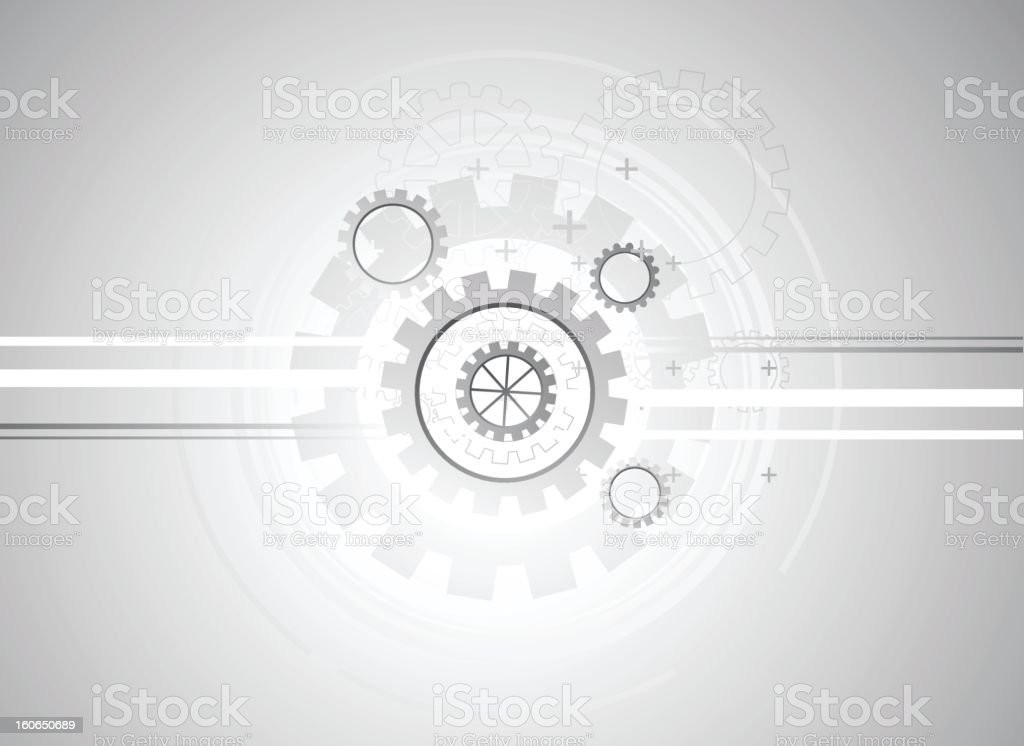 Abstract gray technical background vector art illustration